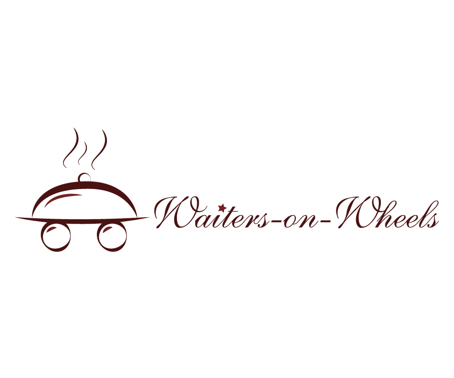 Waiters on wheels logo design